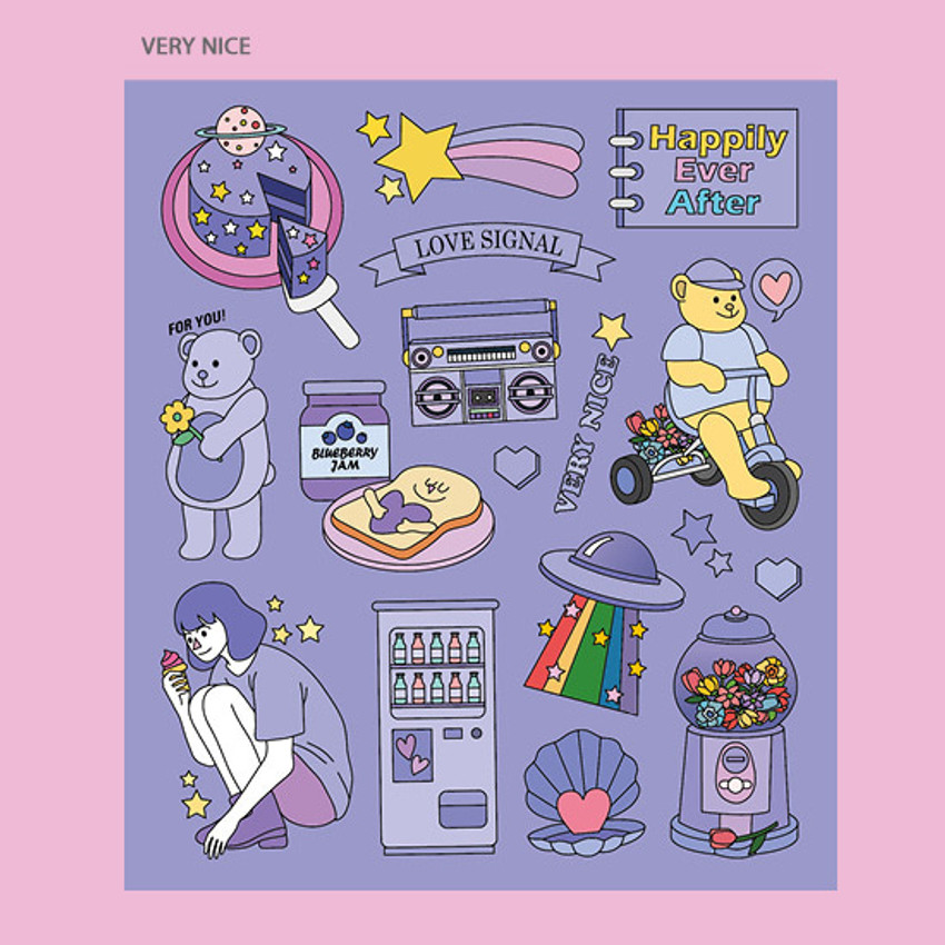 Very nice - Ardium Pop illustration colorful point paper sticker ver3