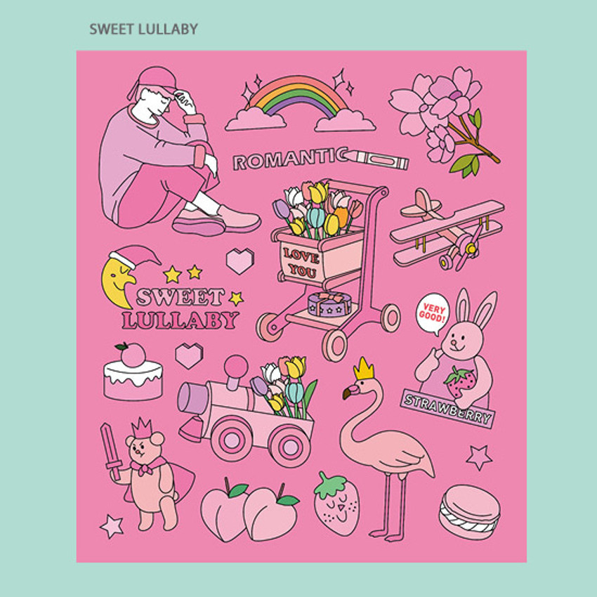 Sweet lullaby - Ardium Pop illustration colorful point paper sticker ver3