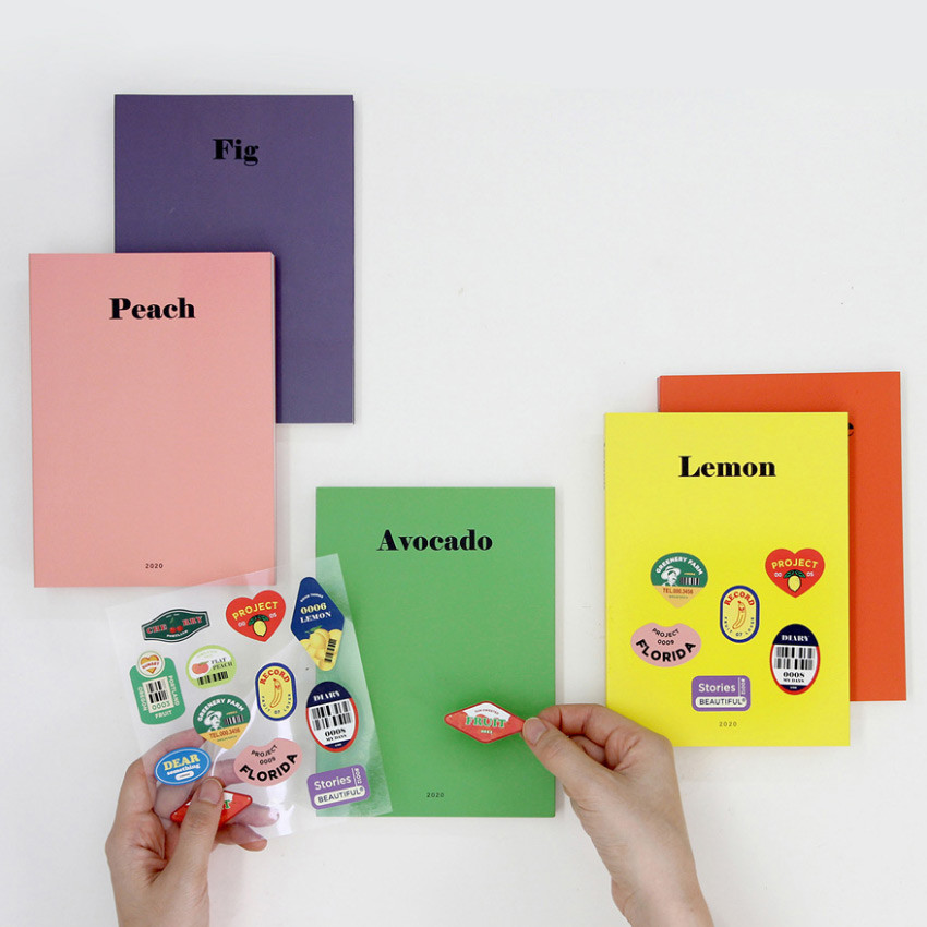 GMZ 2020 Fruit dated monthly journal diary with sticker