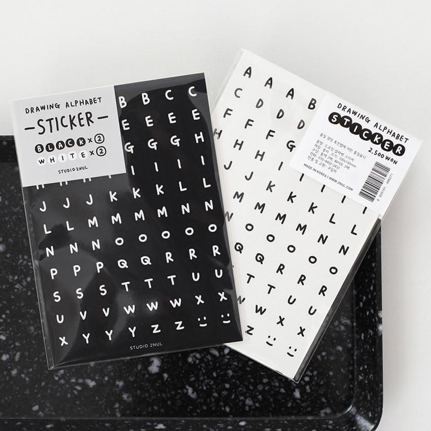 2NUL Drawing alphabet sticker set