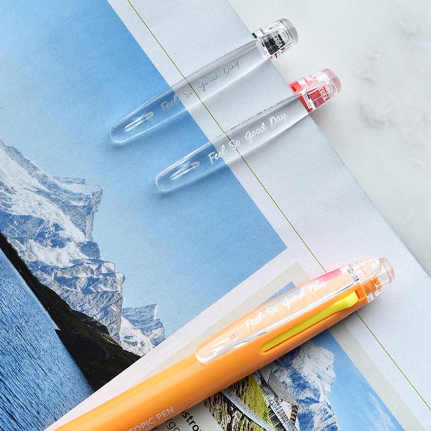 Plastic - Play Obje 3way topic neon multi ballpoint pen