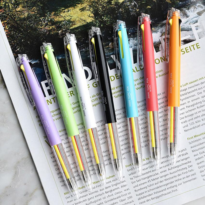 Play Obje 3way topic neon multi ballpoint pen