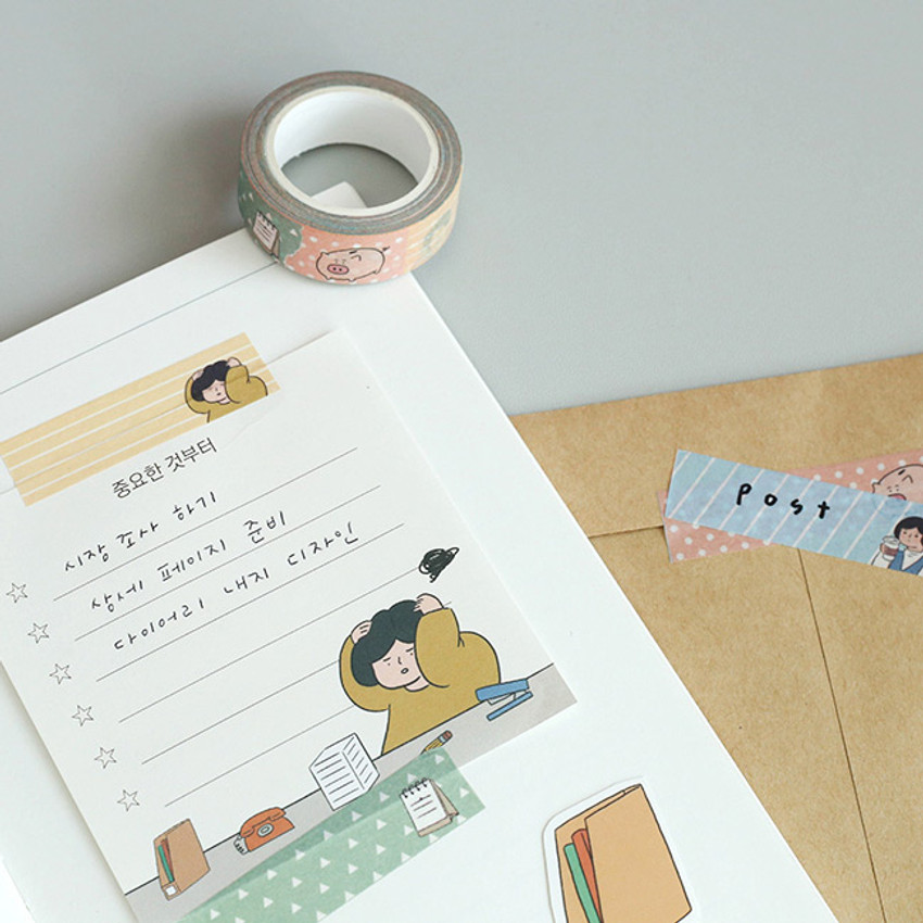 Usage example of Monologue daily 15mm X 10m masking tape ver.2