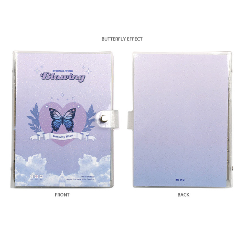 Butterfly effect - After The Rain Twinkle pocket 6-ring undated monthly diary