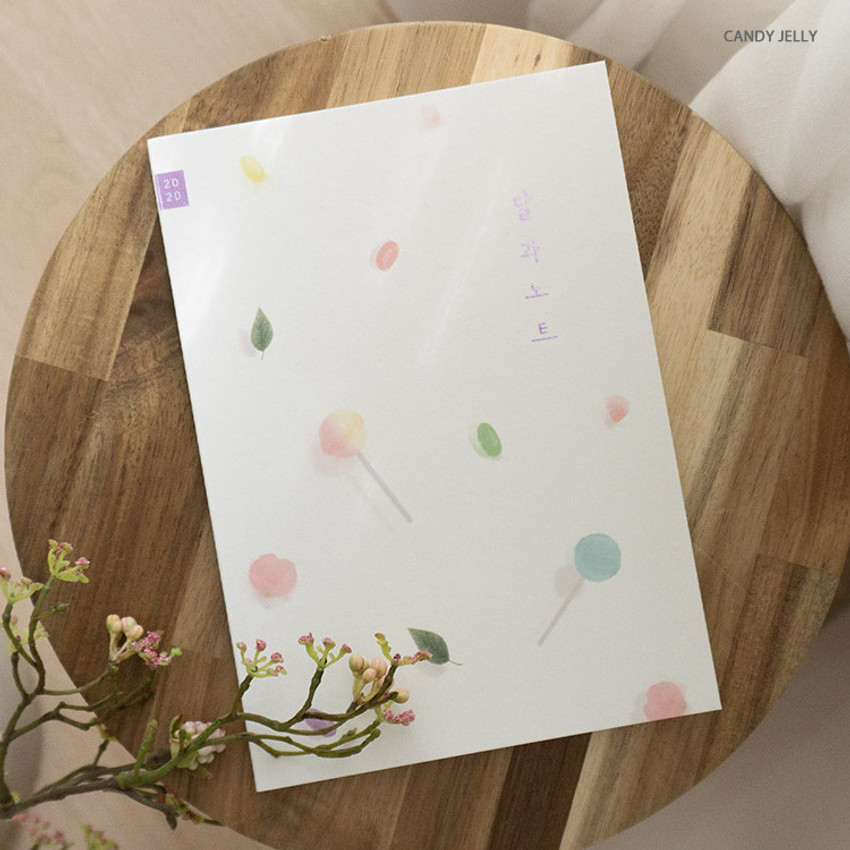 Candy Jelly - Eedendesign 2020 Month and note dated monthly diary planner