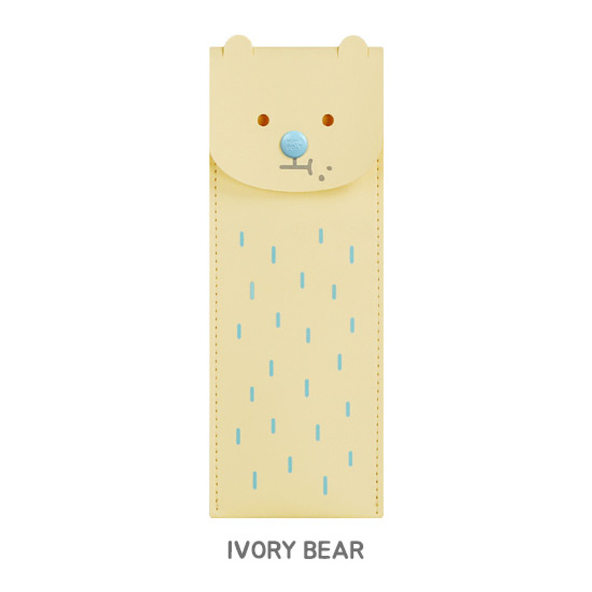 Ivory bear - Monopoly Toffeenut pen case with elastic band holder