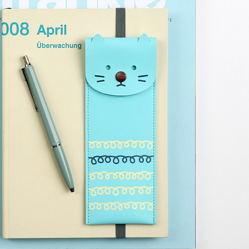 Mint kitty - Monopoly Toffeenut pen case with elastic band holder