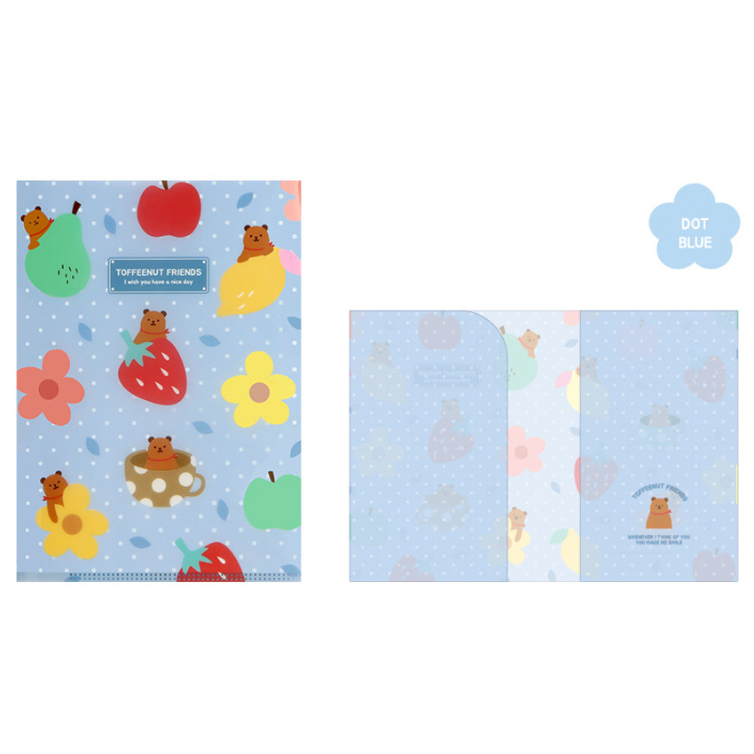 Dot Blue - Monopoly Toffeenut friends PP document file folder