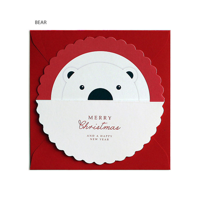 Bear - DBD Candy Christmas card with envelope