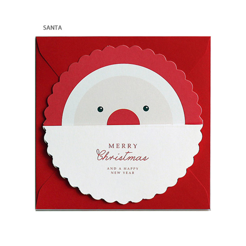 Santa - DBD Candy Christmas card with envelope