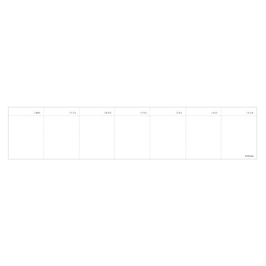 Weekly plan pages - DBD Memory dateless weekly desk planner scheduler pad