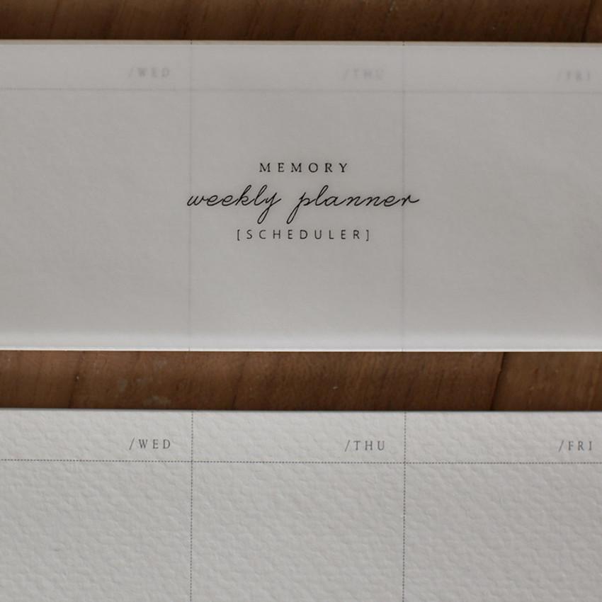DBD Memory dateless weekly desk planner scheduler pad