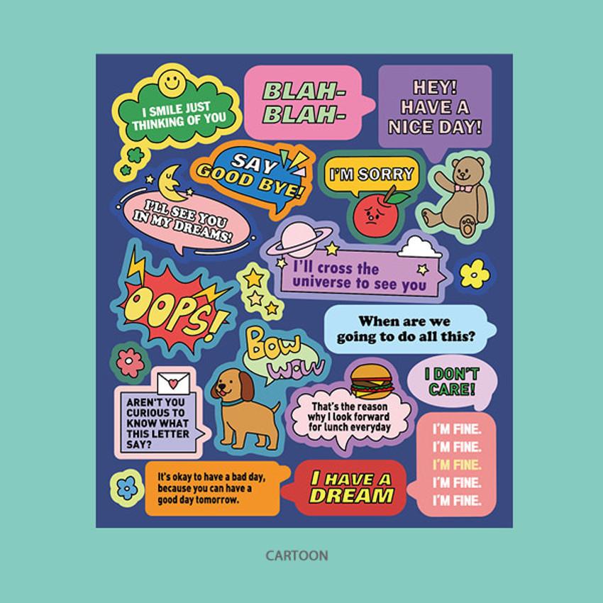 Cartoon - Ardium Message colorful point paper sticker