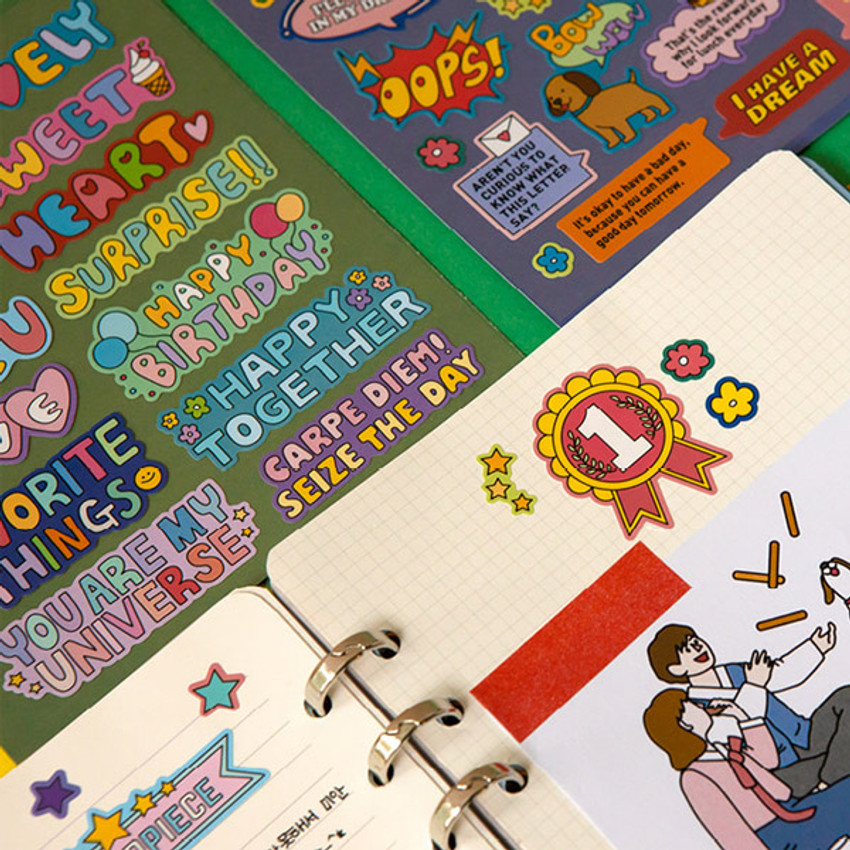 Usage example - Ardium Message colorful point paper sticker