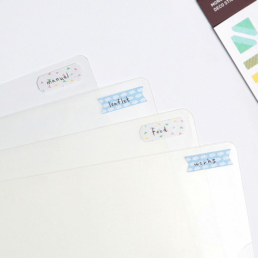 Deco vivid usage example - Monopoly Satin deco index sticker