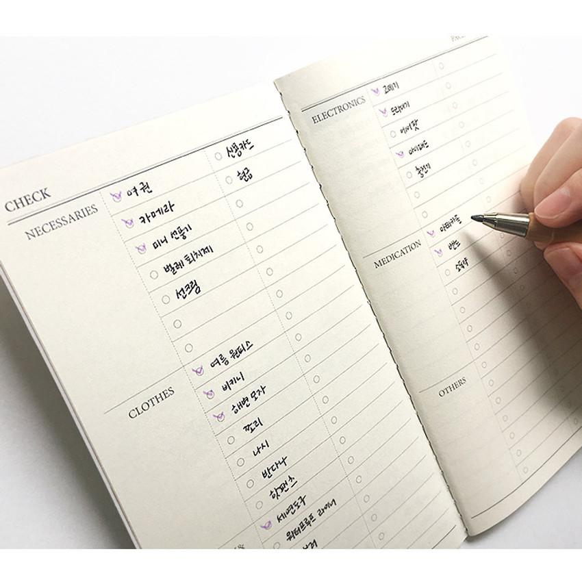 Checklist - O-CHECK Travel planner journal notebook