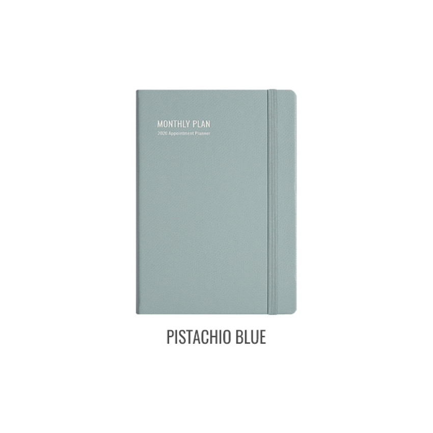 Pistachio blue - Monopoly 2020 Appointment A5 dated monthly planner