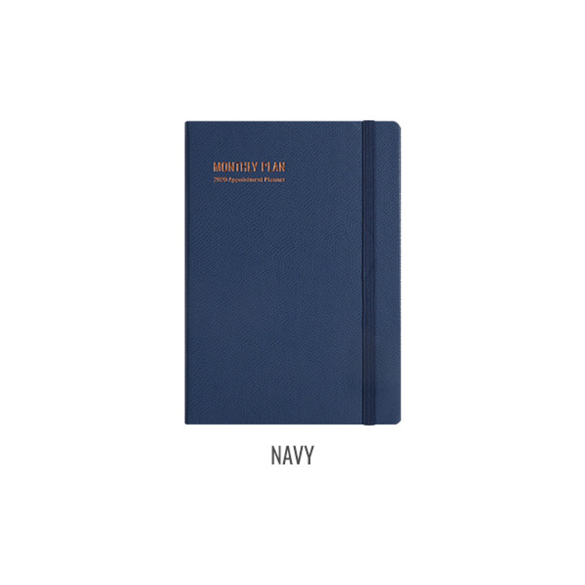Navy - Monopoly 2020 Appointment A5 dated monthly planner
