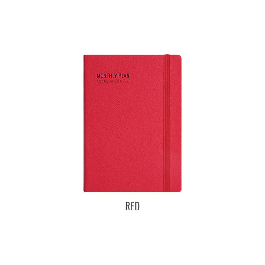 Red - Monopoly 2020 Appointment A5 dated monthly planner