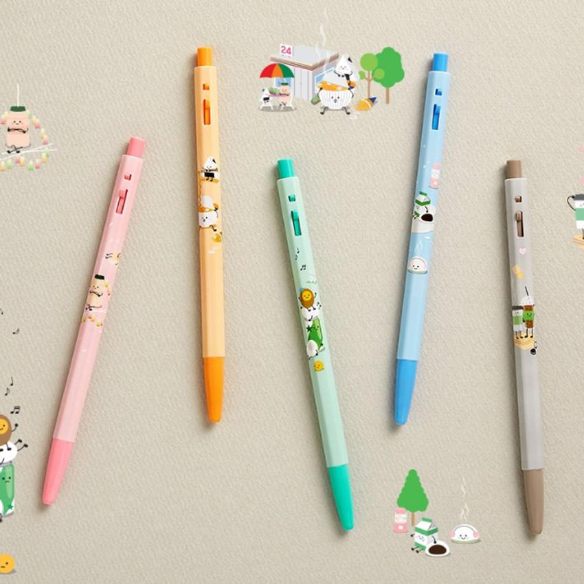 MONAMI 153 yummy knock retractable ballpoint pen set
