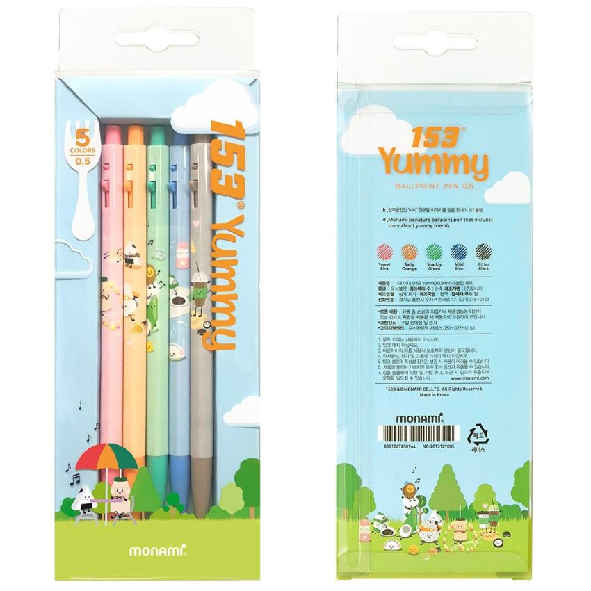 Package for MONAMI 153 yummy knock retractable ballpoint pen set