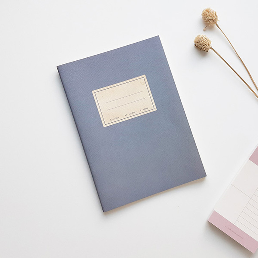Blue - O-CHECK Le cahier bonne pensee medium dot notebook