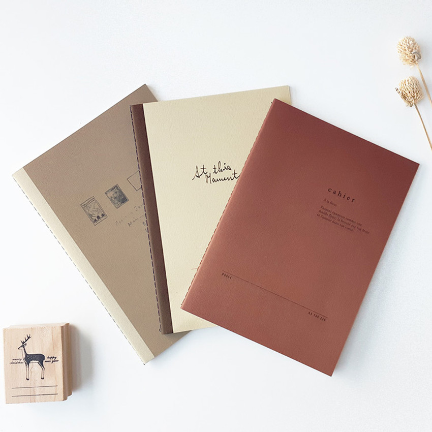 O-CHECK Le cahier bonne pensee medium dot notebook