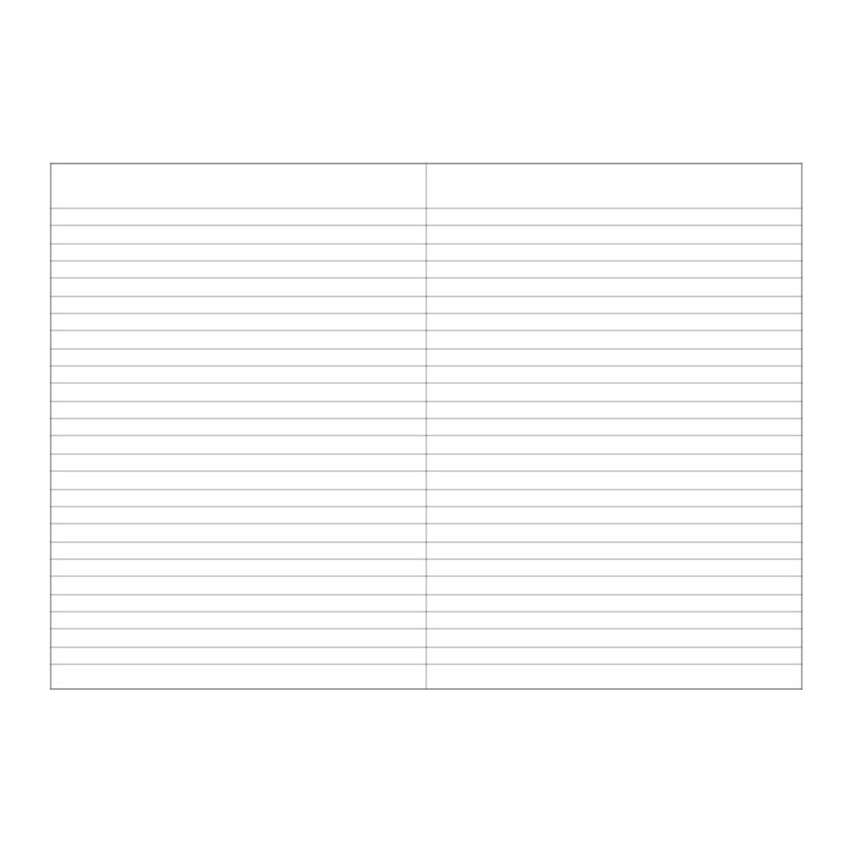 Lined pages - O-CHECK Bonne Pensee A5 size medium lined notebook