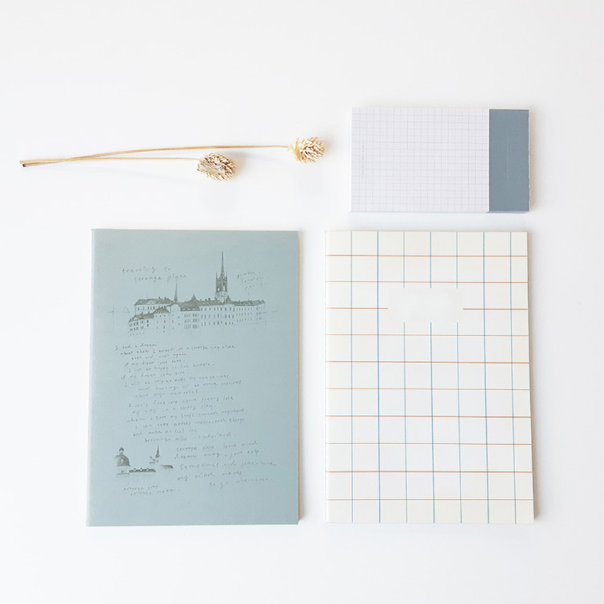 O-CHECK Bonne Pensee A5 size medium lined notebook