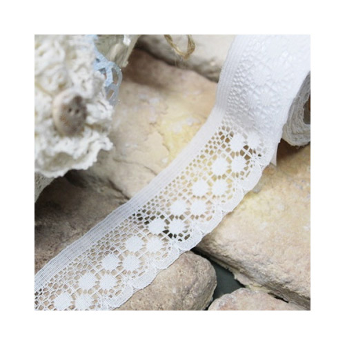 30 Fallindesign Adhesive deco white cotton lace roll tape