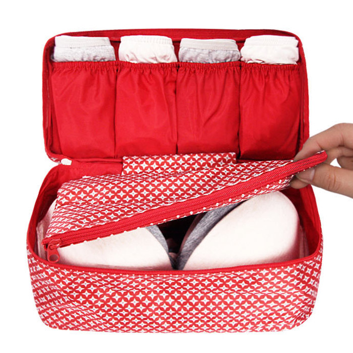 2daf6febedc1 Monopoly Pattern travel pouch bag for underwear and bra