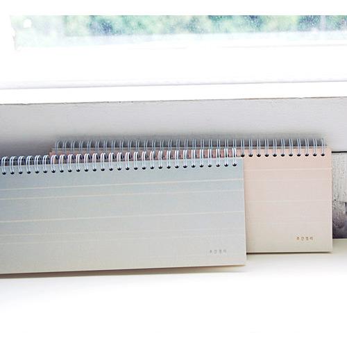 Eedendesign Gradation Spiral Undated Weekly Desk Planner