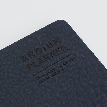 Synthetic leather - Ardium 2021 Simple handy dated weekly planner scheduler