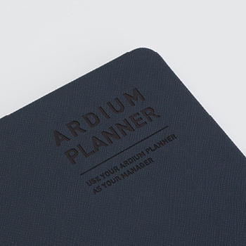 Synthetic leather hardcover - Ardium 2021 Simple small dated weekly planner scheduler