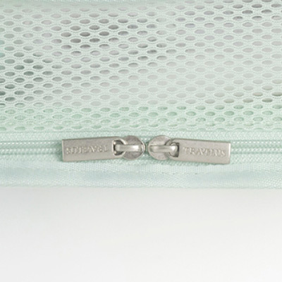 Double zipper - Byfulldesign Travelus cube long coated mesh pouch