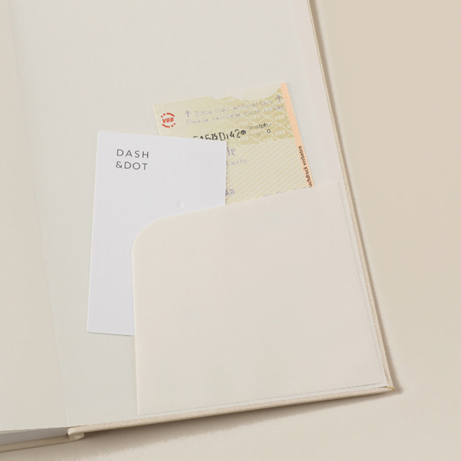 Inner pocket - Dash And Dot 2021 Aesthetic small dated weekly diary planner