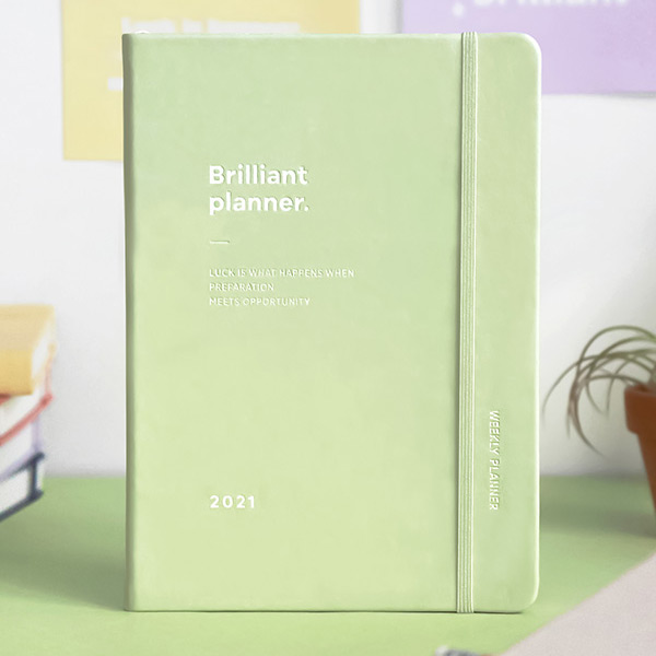 Elastic band closure - ICONIC 2021 Brilliant dated daily diary planner