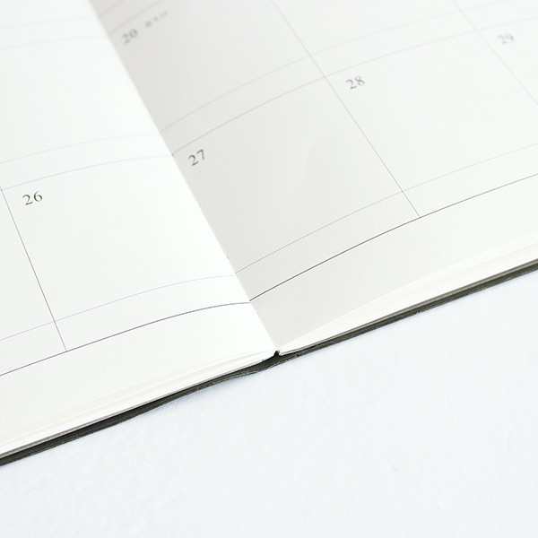Opens flat - Indigo 2021 Official small dated monthly planner scheduler