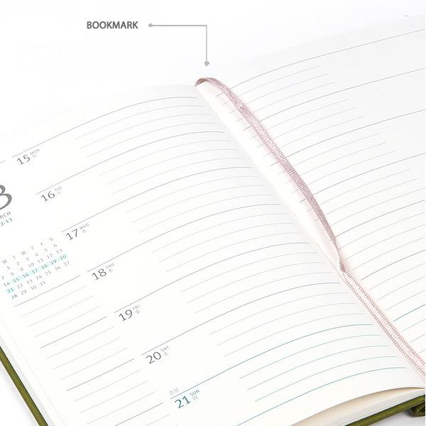 Ribbon bookmark - MINIBUS 2021 Traveler's dated weekly diary journal