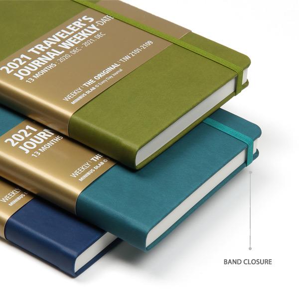 Elastic band - MINIBUS 2021 Traveler's dated weekly diary journal