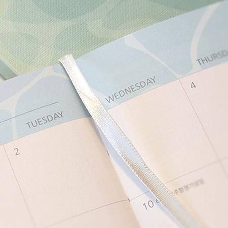 Ribbon bookmark - PLEPLE 2021 Chou Chou dated weekly planner scheduler