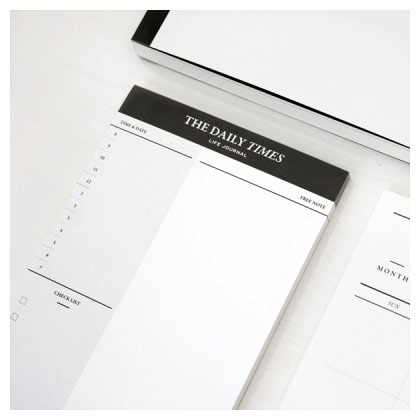 seeso the daily times planner notepad 50 sheets fallindesign