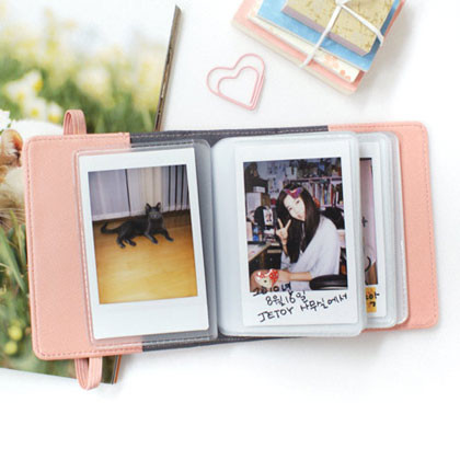 Choo Choo Cat Leather Instax Mini Album Pink