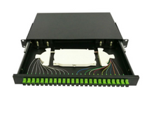 24 Fibers Sliding Rack Mounted Fiber Optic Terminal Box as Distribution Box With Pigtails and Adapters