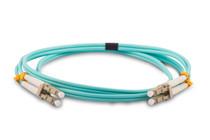 100m (300ft) LC UPC to LC UPC Duplex 2.0mm PVC (OFNR) OM3 Multimode Fiber Optic Patch Cable