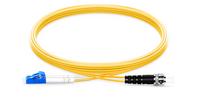 LC-ST Duplex 9/125 Single-mode Fiber Patch Cable 7m