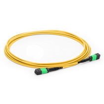5m (16ft) MTP Female to MTP Female 12 Fibers OS2 9/125 Single Mode Trunk Cable, Type A, Elite, LSZH, Yellow