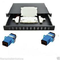 12 Ports Fiber Optic Patch Panels,Fiber Patch Panel, loaded with sc simplex