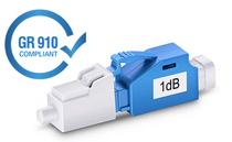 1dB LC/UPC Singlemode Fixed Fiber Optic Attenuator, Male-Female
