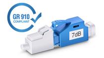 7dB LC/UPC Singlemode Fixed Fiber Optic Attenuator, Male-Female